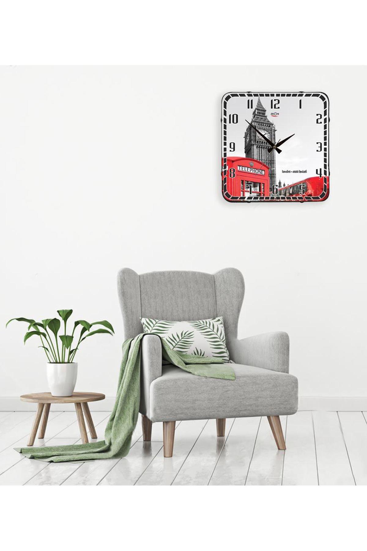 Rikon Londra Dekoratif Bombe Camlı Duvar Saati 35X35 Cm