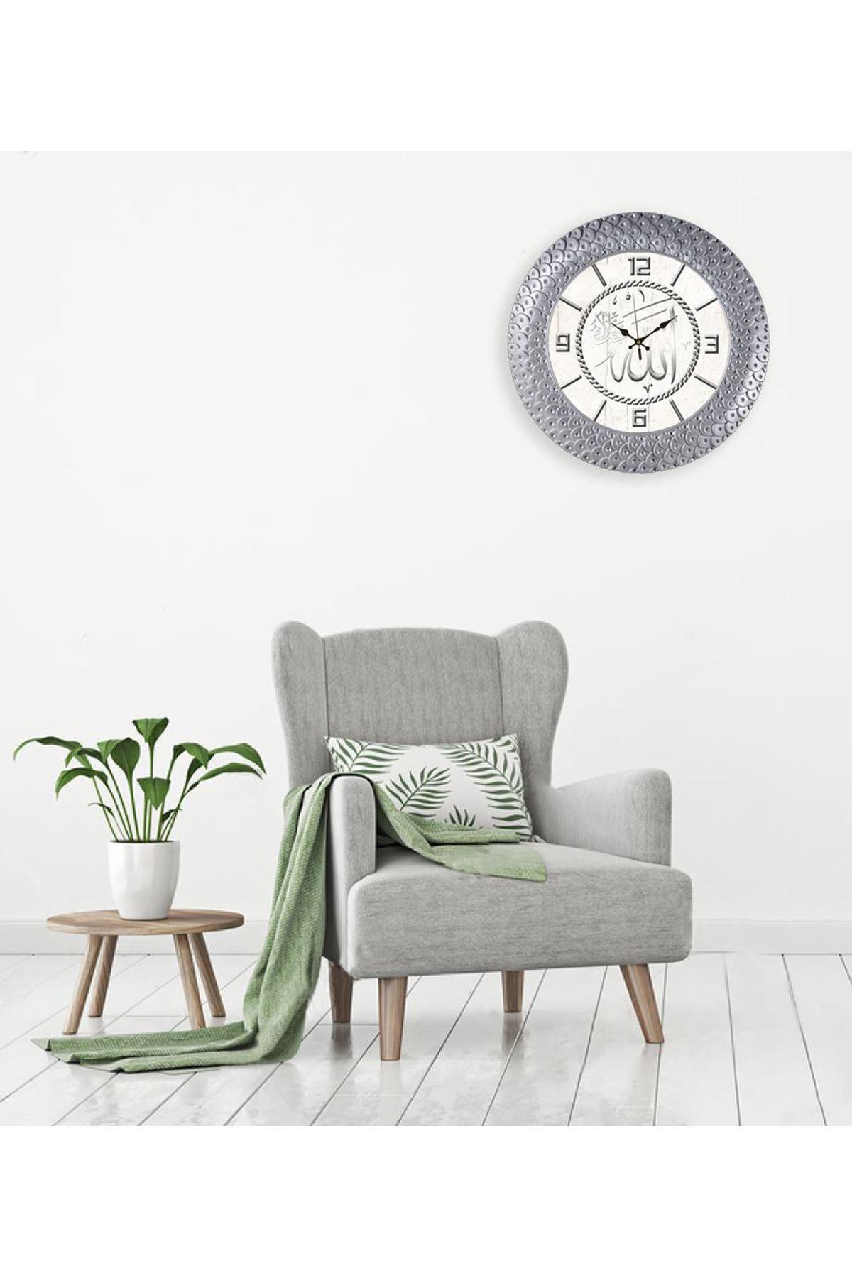 Rikon Premium Allah Yazılı Dekoratif Duvar Saati 45X45 Cm