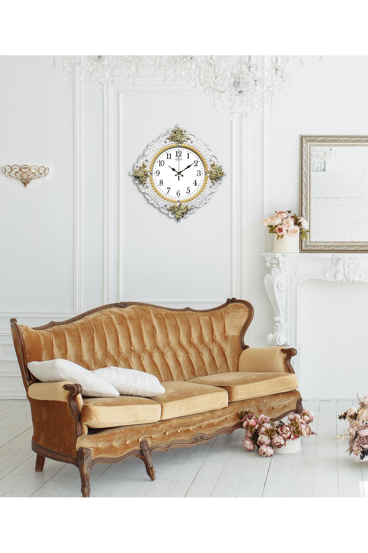Rikon Butterfly Düz Beyaz Dekoratif Duvar Saati 48X48 Cm