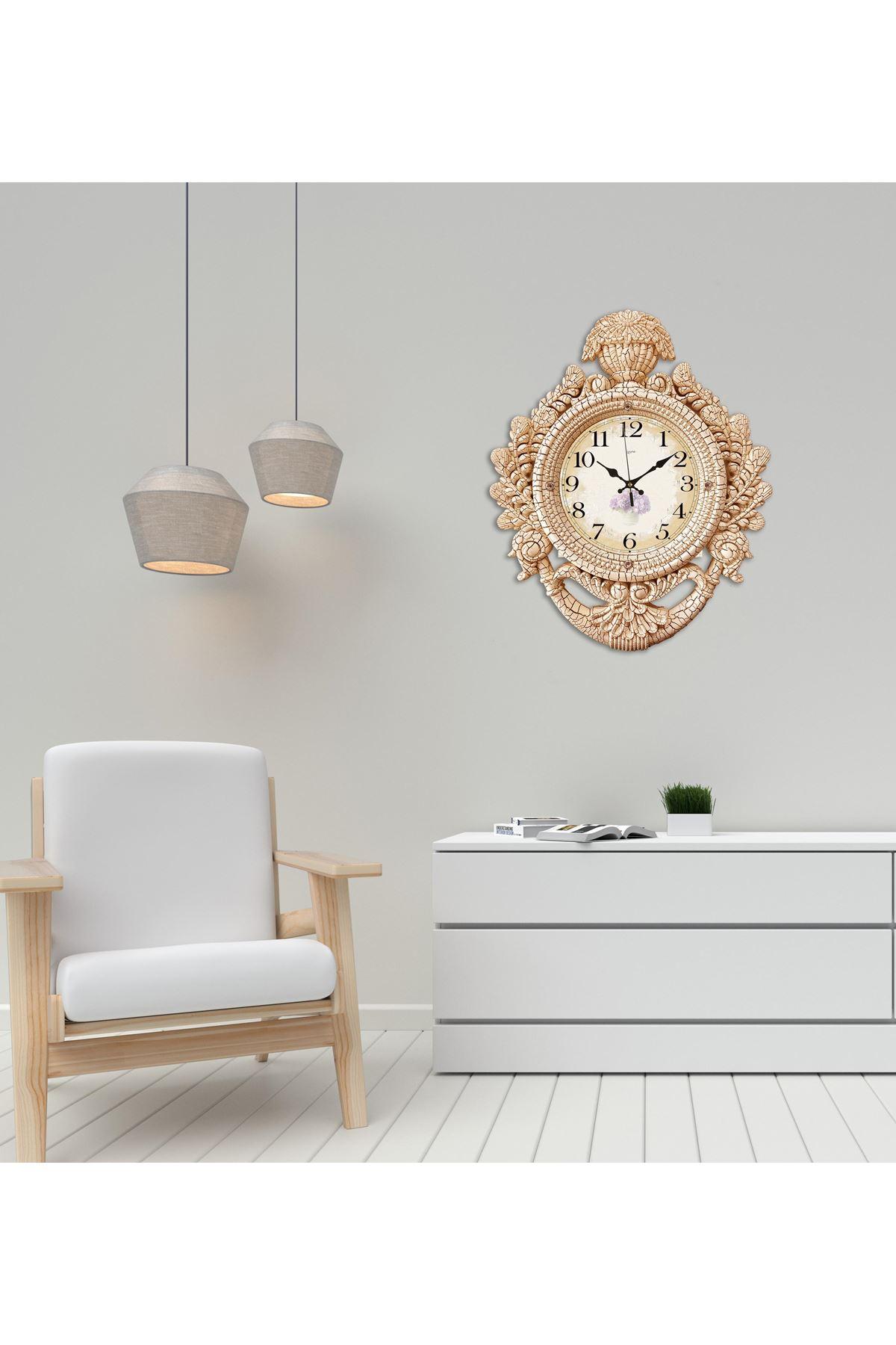 Rikon Taç Model Dekoratif Duvar Saati 60X48 Cm