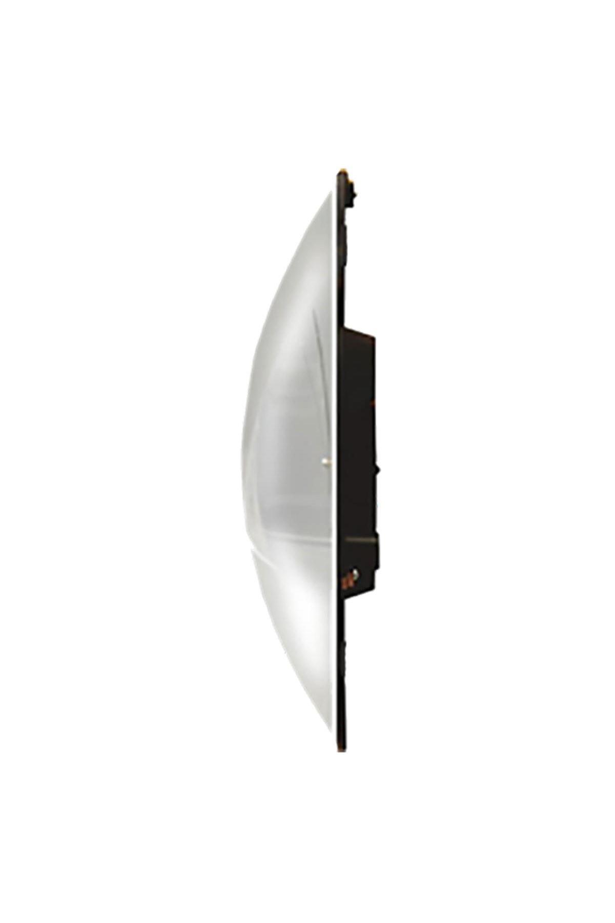 Rikon Çatlatma Desen Dekoratif Bombe Camlı Duvar Saati 35X35 Cm