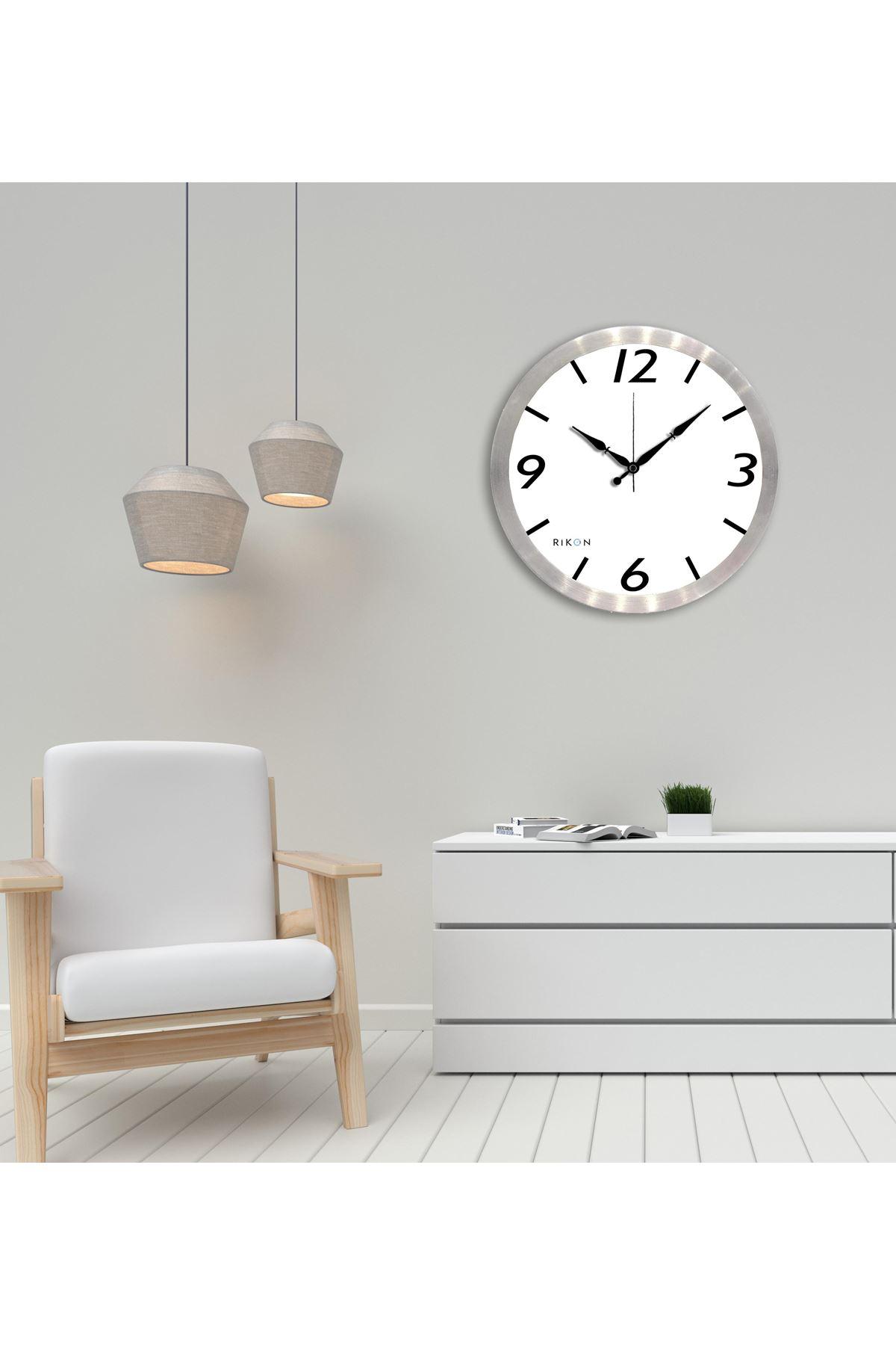 Rikon Metal Dekoratif Ofis Duvar Saati Klasik 35X35 Cm