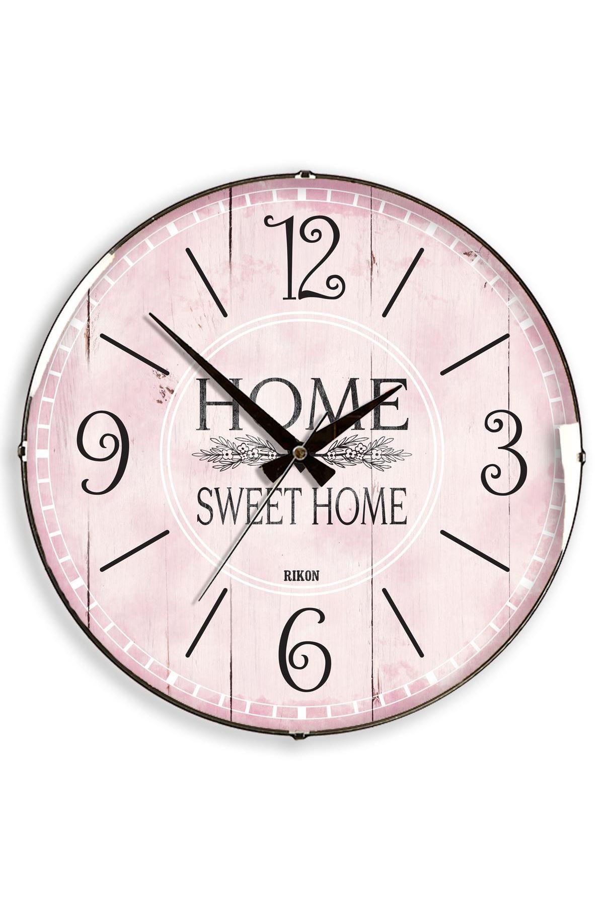 Rikon Home Swet Dekoratif Bombe Camlı Duvar Saati 35X35 Cm