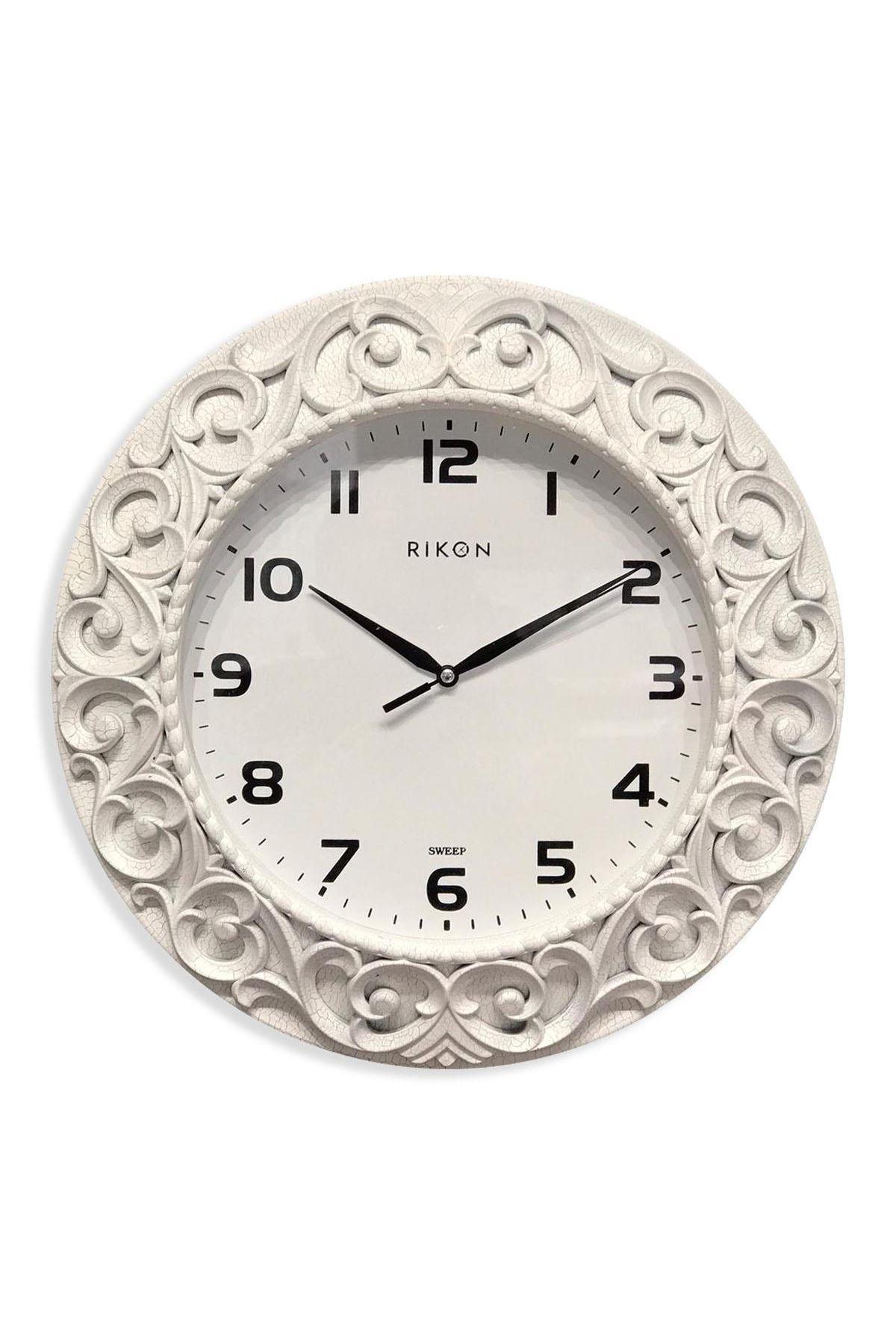 Rikon Dekoratif Desenli Duvar Saati Çatlak Model 33X33 Cm