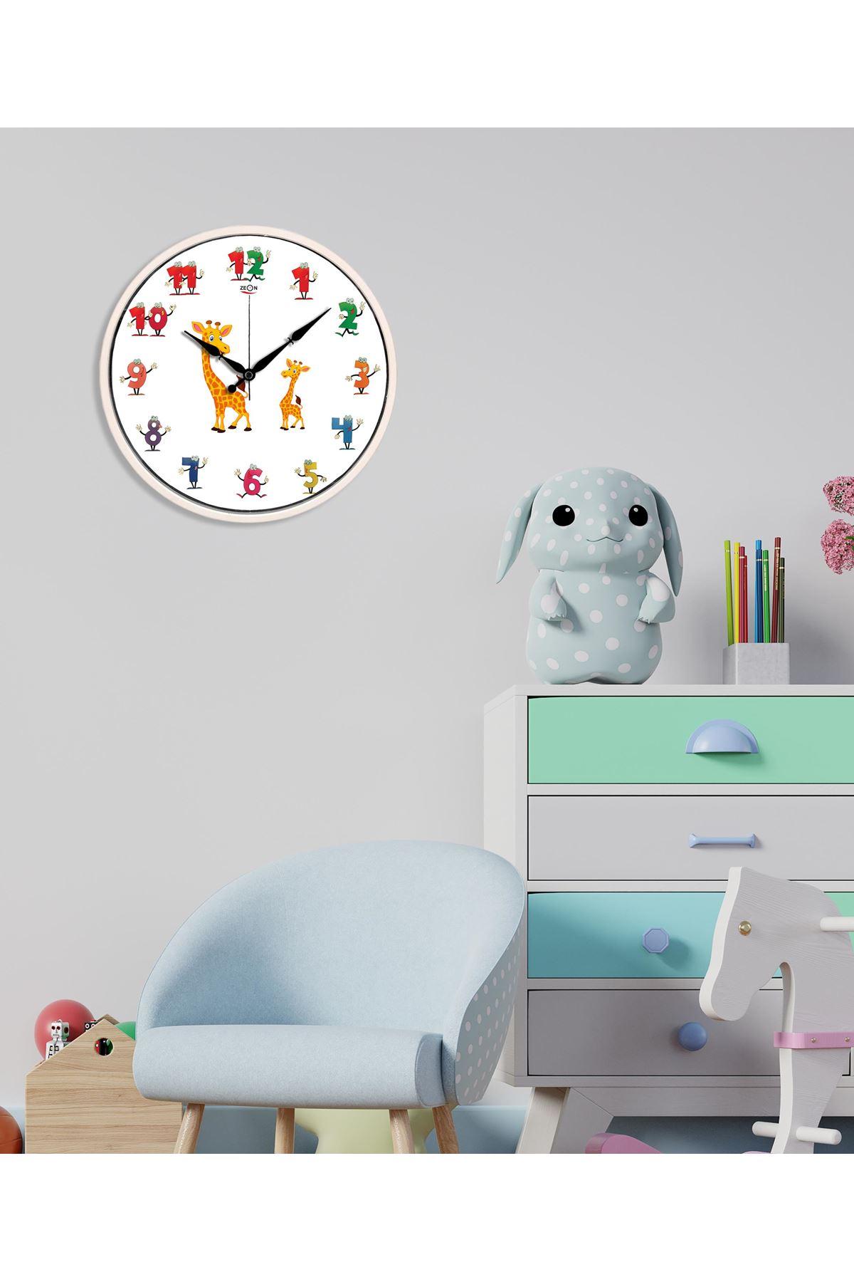 Rikon Dekoratif Çocuk Odası Amazon Duvar Saati 30X30 Cm