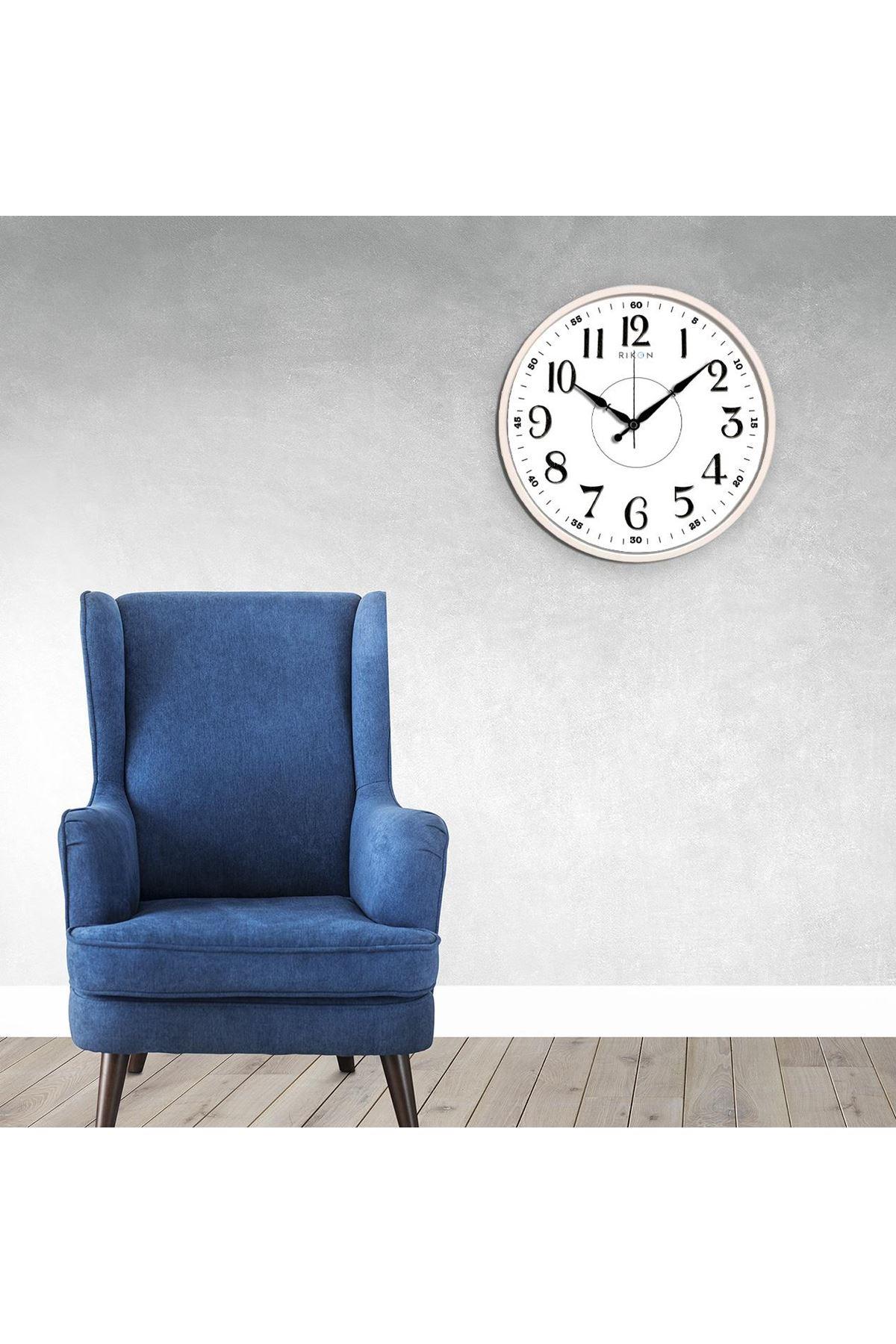Rikon Dekoratif Büyük Klasik Duvar Saati 30X30 Cm
