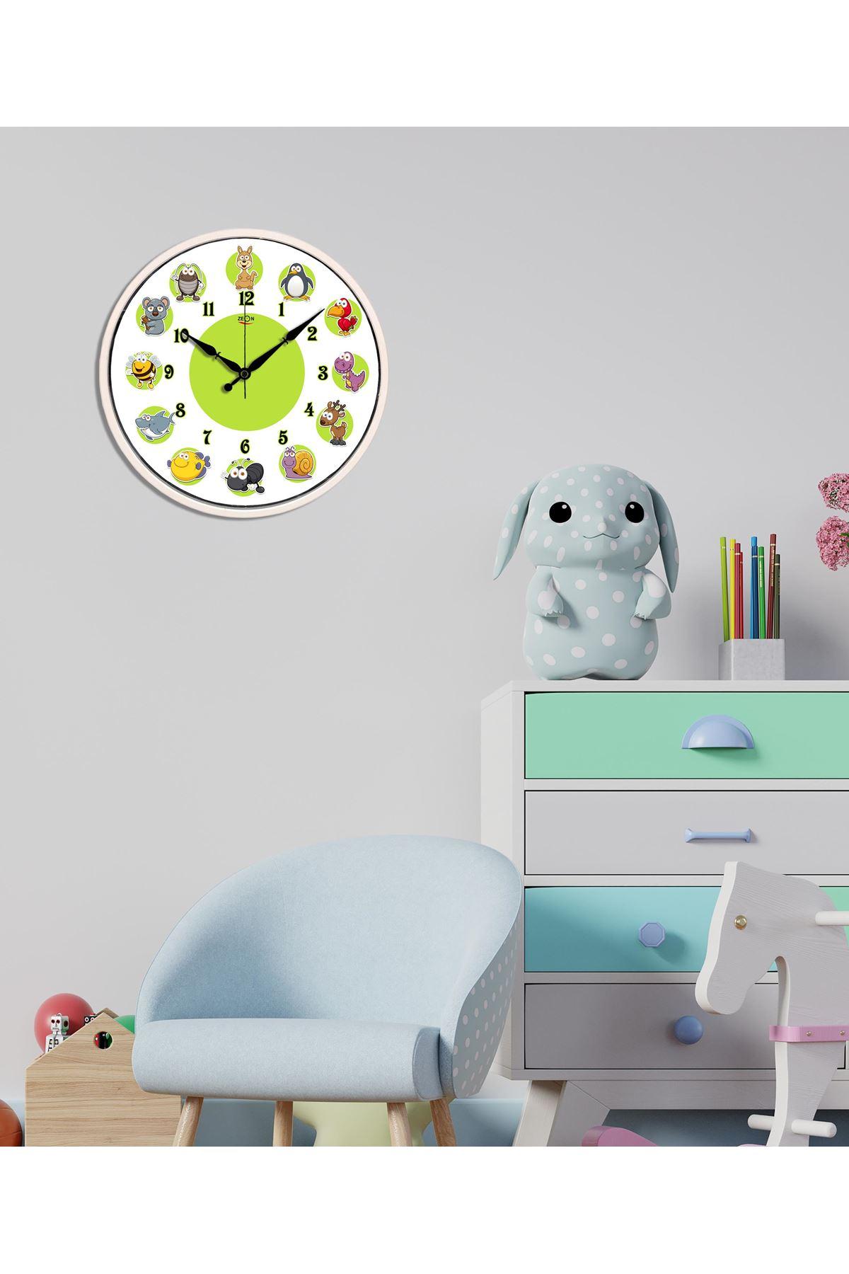 Rikon Dekoratif Çocuk Odası Hayvanlar Duvar Saati 30X30 Cm