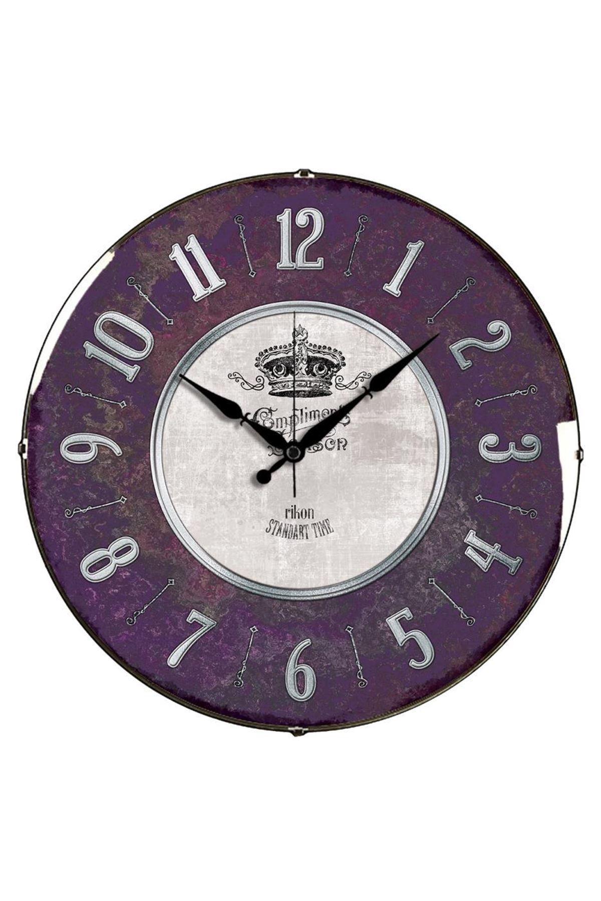 Rikon Kral Tacı Dekoratif Bombe Camlı Duvar Saati
