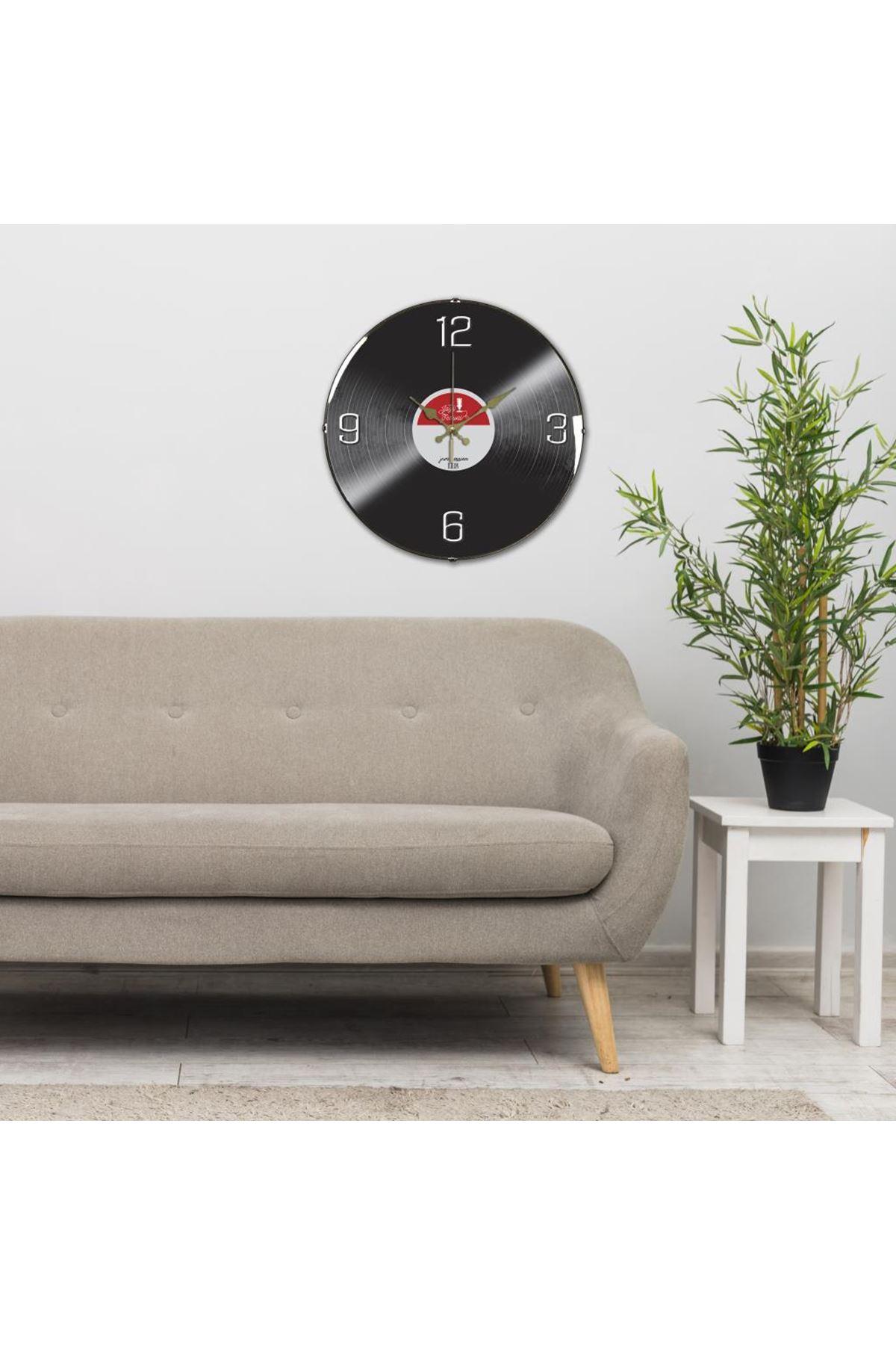 Rikon Plak Dekoratif Bombe Camlı Duvar Saati